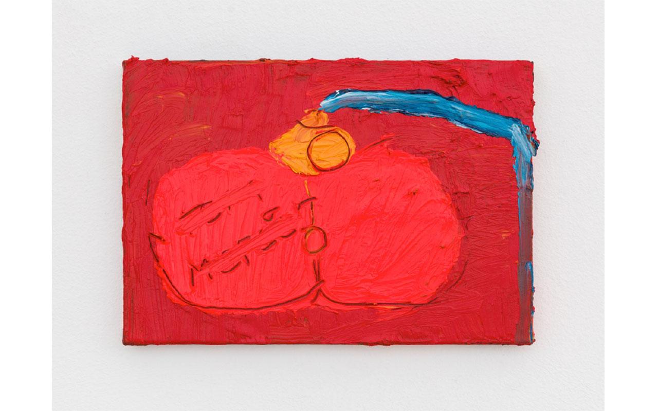 T MERCIER, 2019, Olio su tela, 15 x 24 cm